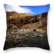 Animas Forks Colorado Throw Pillow
