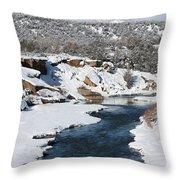 Animas River In January Throw Pillow