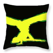 Animated Hiphop Dancer Throw Pillow