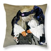 Anime - Personification Of A Lucky Girl  Throw Pillow