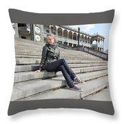 Anita C Throw Pillow