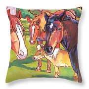 Anjelica Huston's Horses Throw Pillow