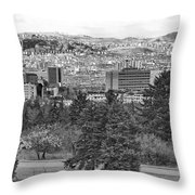 Ankara - Bw Throw Pillow