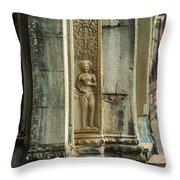 Ankgor Wat  Apsaras Throw Pillow