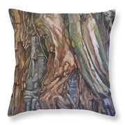 Ankor Temple Trees  Throw Pillow