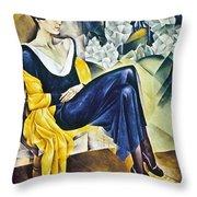 Anna Akhmatova (1889-1967) Throw Pillow