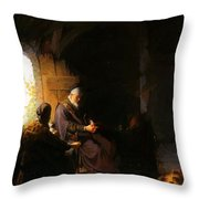 Anna And Blind Tobit Throw Pillow
