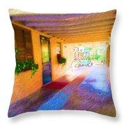 Anna Maria Elementary Office Hallway C130662 Throw Pillow