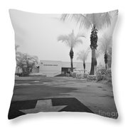 Anna Maria Island Branch Library In Fog Infrared 50 Throw Pillow