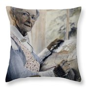 Anna Mary Robertson Throw Pillow