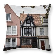 Anna Sewell's House In  Great Yarmouth Throw Pillow