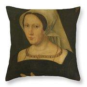 Anna Van Spangen Wife Of Adriaen Van Der Goes Throw Pillow