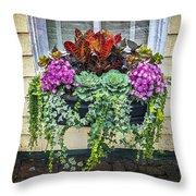 Annapolis Flower Box Throw Pillow