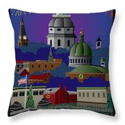 Annapolis Holiday With Title Throw Pillow