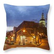 Annapolis Main Street Throw Pillow