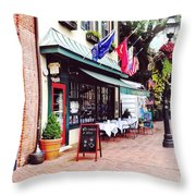Annapolis Md - Restaurant On State Circle Throw Pillow