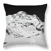 A View Of Annapurna South Throw Pillow