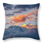 Annapurna South Peak In Sunset Clouds Throw Pillow