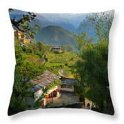 Annapurna Village Throw Pillow
