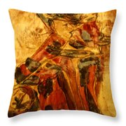 Anne And Friend - Tile Throw Pillow