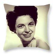 Anne Bancroft, Vintage Actress Throw Pillow