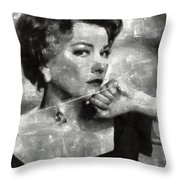 Anne Baxter Vintage Hollywood Actress Throw Pillow