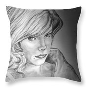 Anne Francis Throw Pillow
