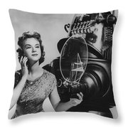 Anne Francis Movie Photo Forbidden Planet With Robby The Robot Throw Pillow