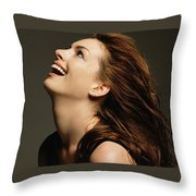 Anne Hathaway Throw Pillow