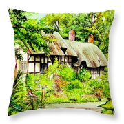 Anne Hathaways Cottage  Throw Pillow