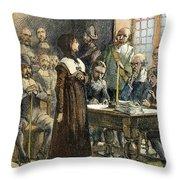 Anne Hutchinson, 1591-1643 Throw Pillow