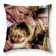 Anne Of Cleves With Prince Edward Throw Pillow