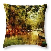 Annecy France Pont Des Amours Throw Pillow