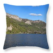 Annecy Lake Panorama Throw Pillow
