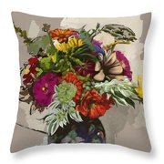 Anne's Flowers Throw Pillow
