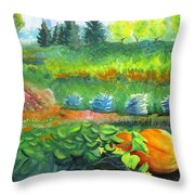 Annes Garden Throw Pillow