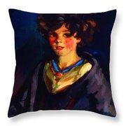 Annie Geg 1925 Throw Pillow