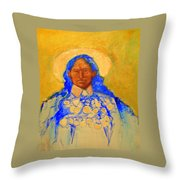 Annie Oakely Throw Pillow by Johanna Elik