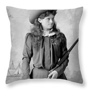 Annie Oakley Throw Pillow