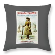 Annie Oakley Throw Pillow