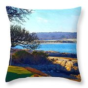 Annisquam Winter Sun  Throw Pillow