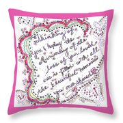 Anniversary Memorial Throw Pillow