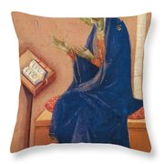 Annunciation Fragment 1311 Throw Pillow