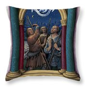 Annunciation To Shepherds Throw Pillow