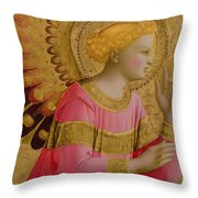 Annunciatory Angel Throw Pillow