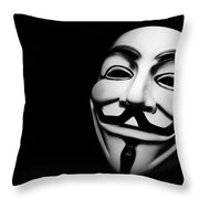 Anonymous V For Vendetta Mask Throw Pillow