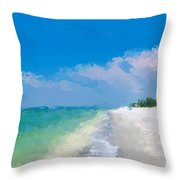 Another Beach Day Throw Pillow