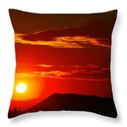 Another Beautiful Arizona Sunset Throw Pillow