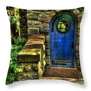 Another Blue Door Throw Pillow