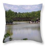 Another Bridge At The Zen Garden Throw Pillow